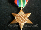 FULL SIZE WW2 PACIFIC STAR WITH BURMA CLASP REPLACEMENT COPY